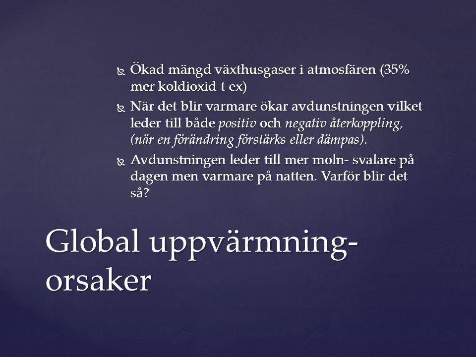 Global uppvärmning- orsaker