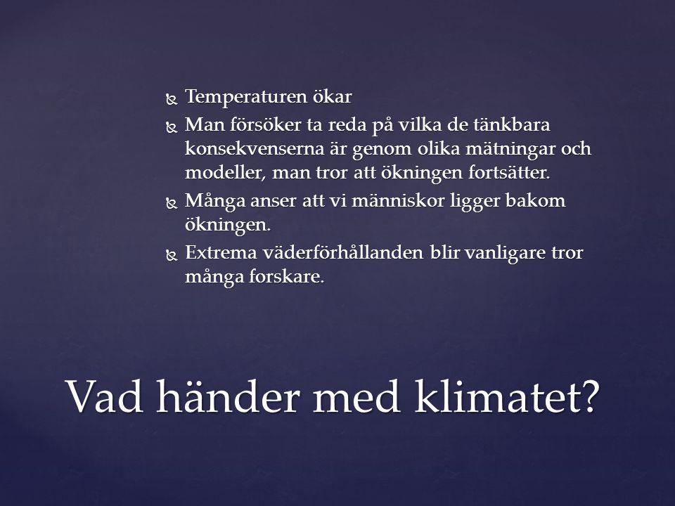 Vad händer med klimatet