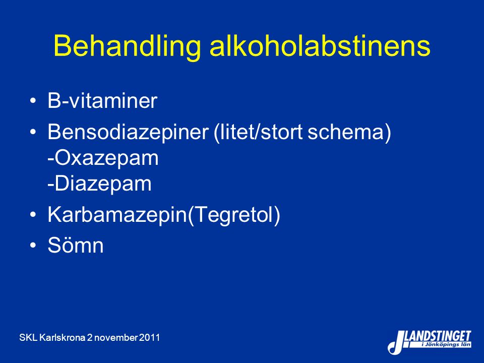 Behandling alkoholabstinens