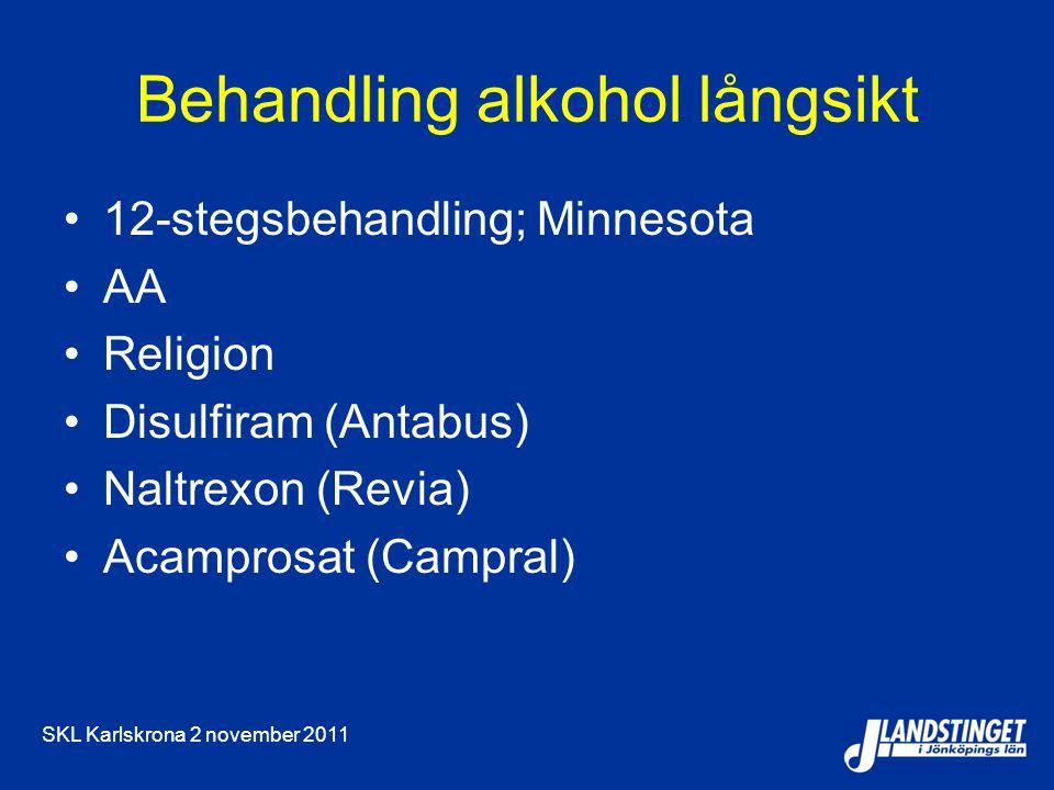 Behandling alkohol långsikt