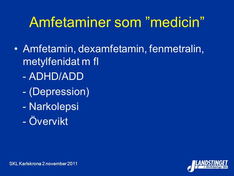 Amfetaminer som medicin