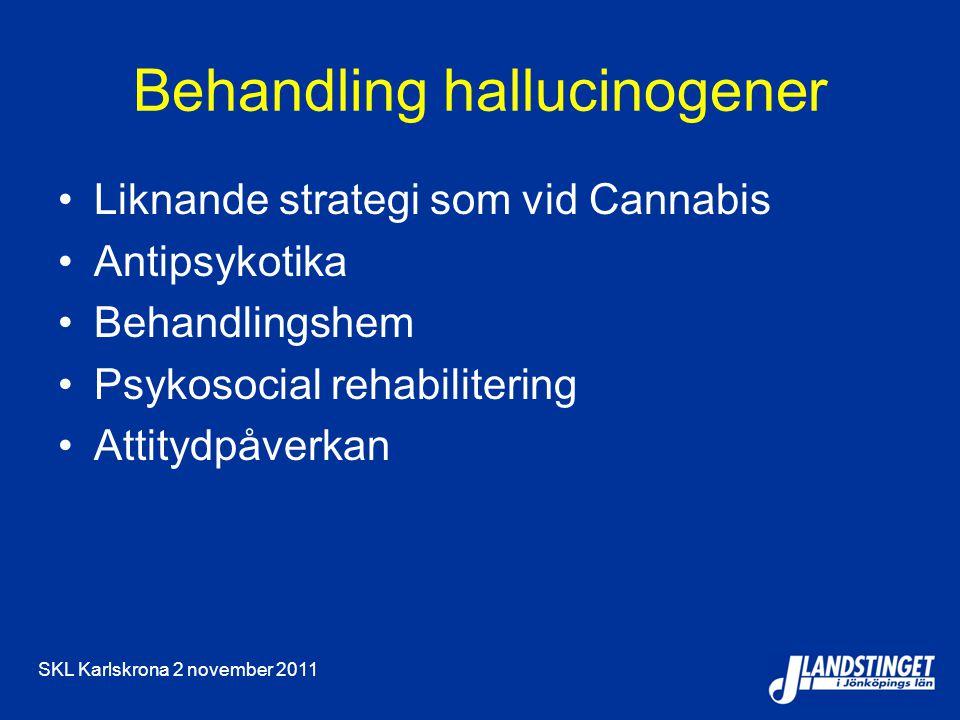 Behandling hallucinogener