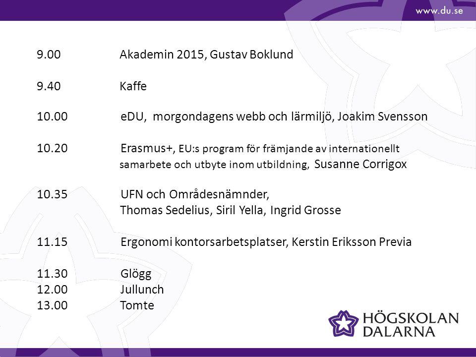 9.00 Akademin 2015, Gustav Boklund