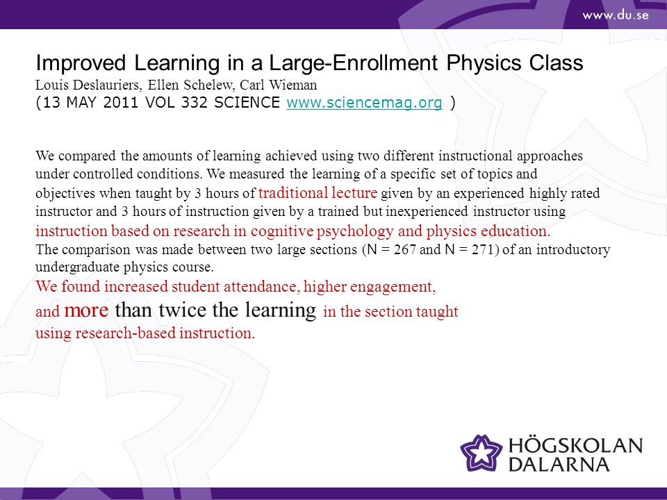 Improved Learning in a Large-Enrollment Physics Class