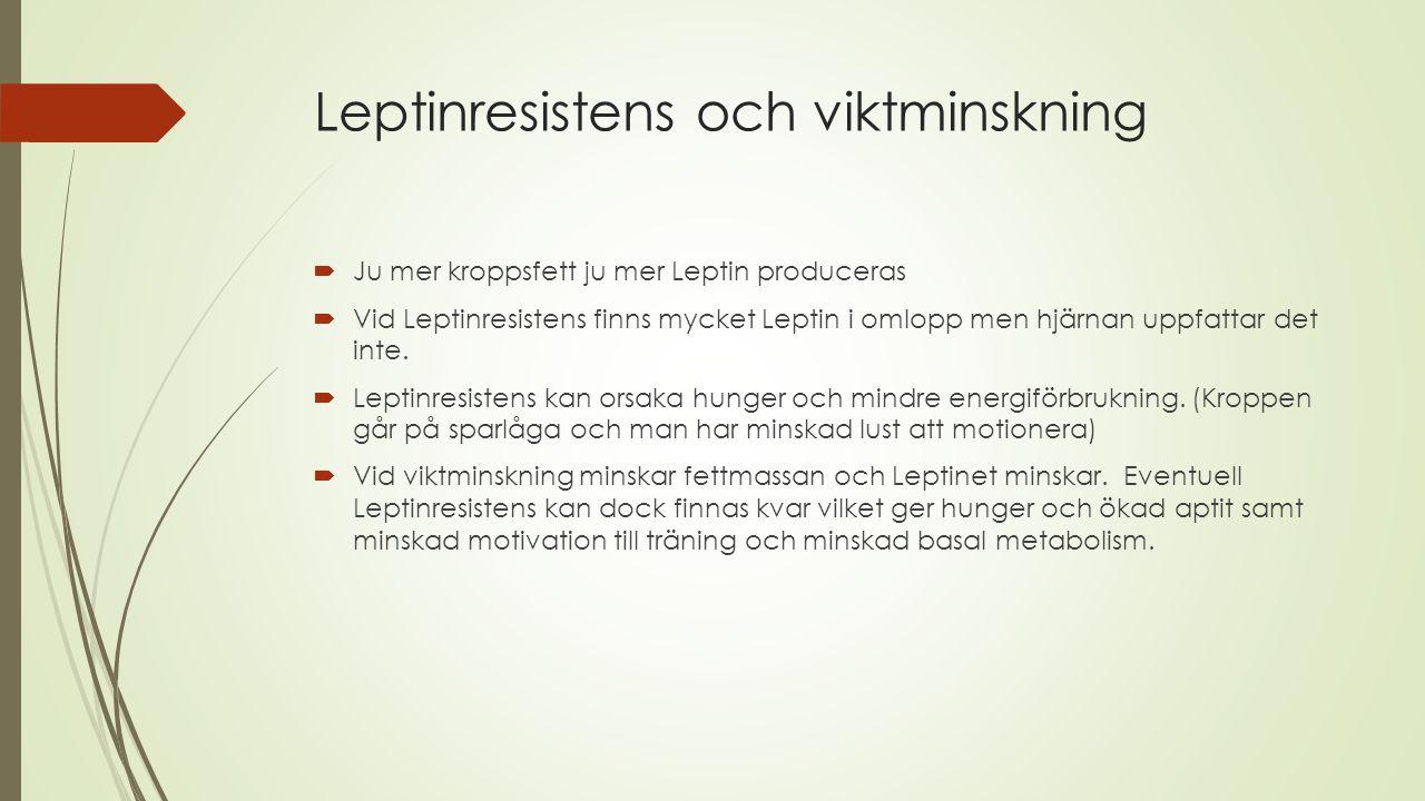 Leptinresistens och viktminskning