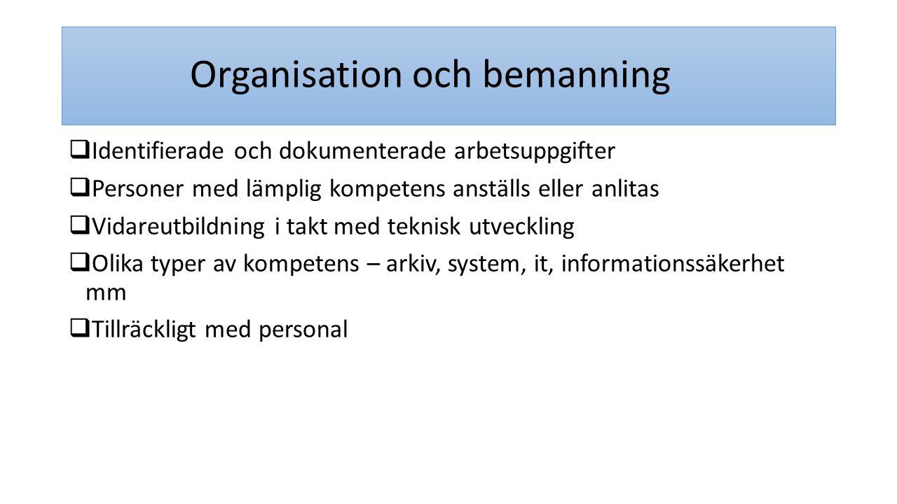 Organisation och bemanning