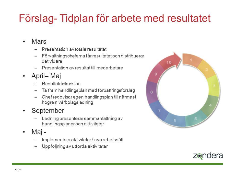 Förslag- Tidplan för arbete med resultatet