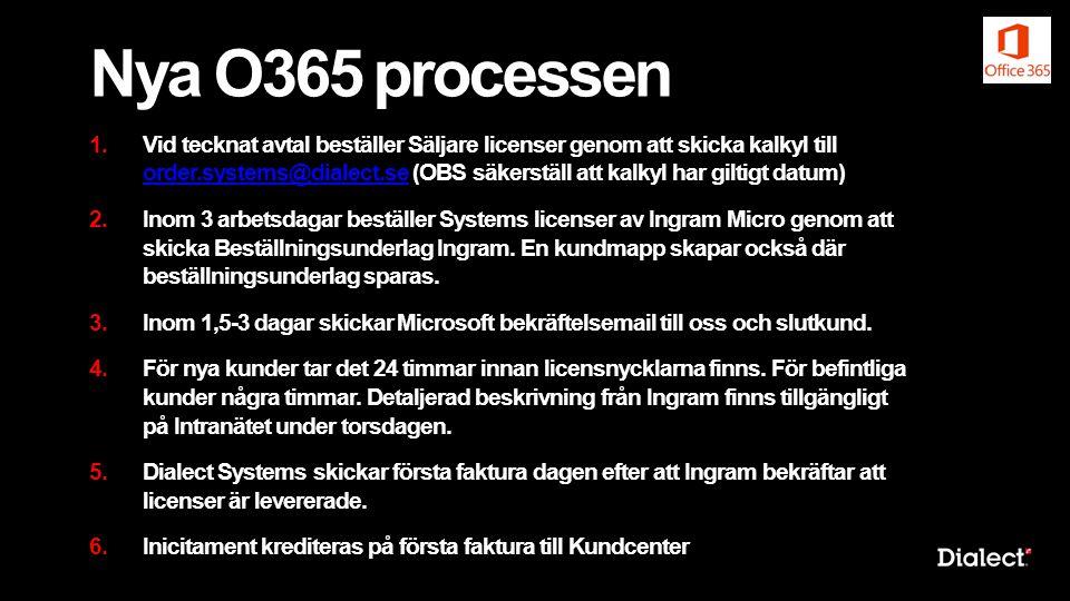 Nya O365 processen