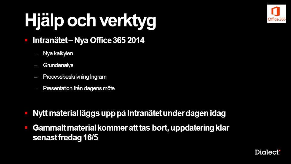 Hjälp och verktyg Intranätet – Nya Office 365 2014