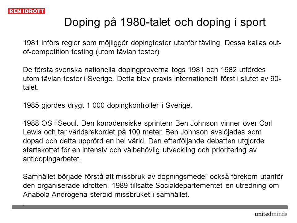 Doping på 1980-talet och doping i sport