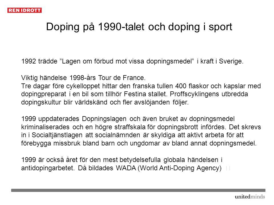 Doping på 1990-talet och doping i sport