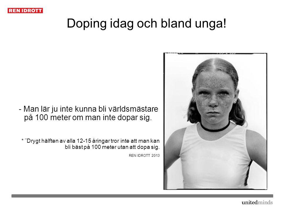 Doping idag och bland unga!