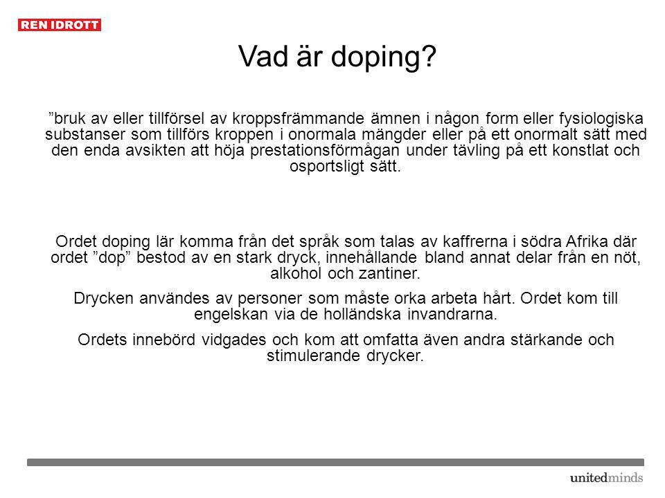 Vad är doping