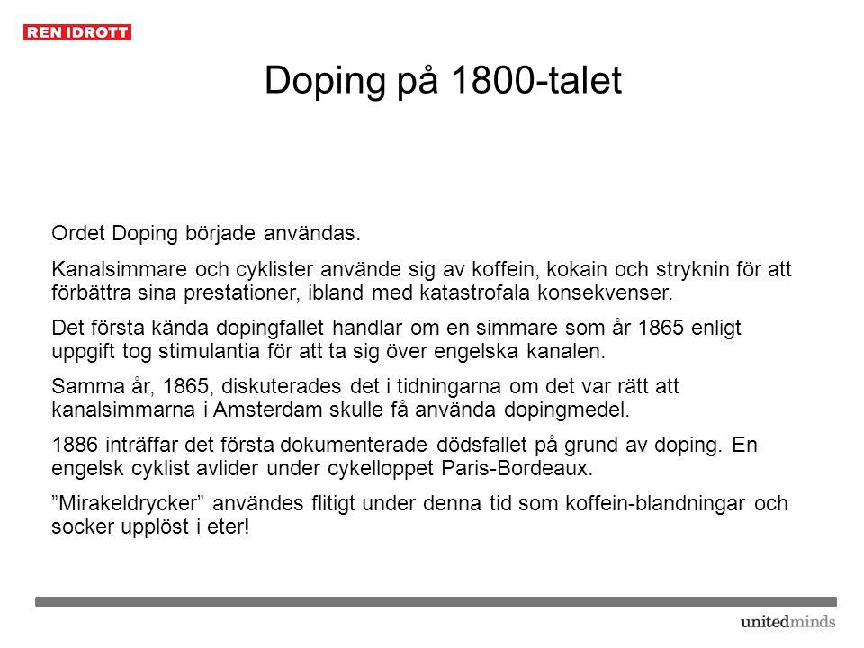 Doping på 1800-talet