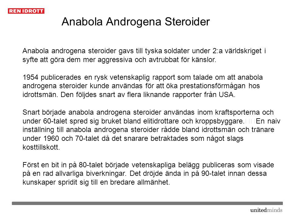 Anabola Androgena Steroider