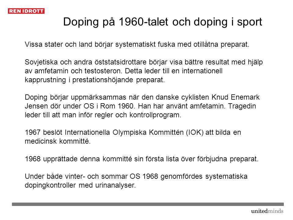 Doping på 1960-talet och doping i sport