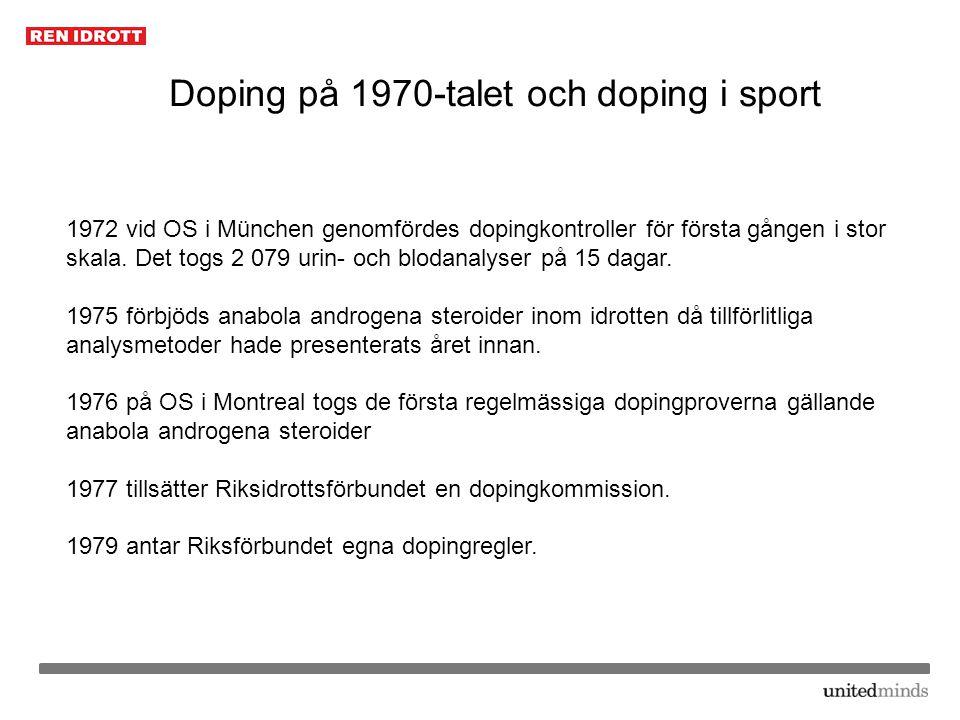 Doping på 1970-talet och doping i sport
