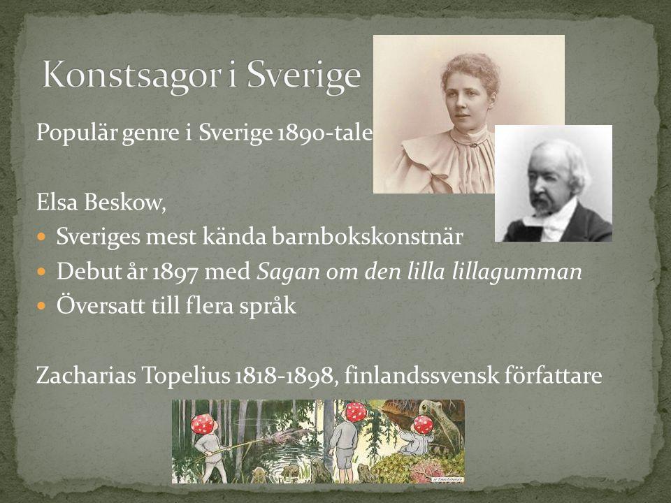 Konstsagor i Sverige Populär genre i Sverige 1890-talet Elsa Beskow,
