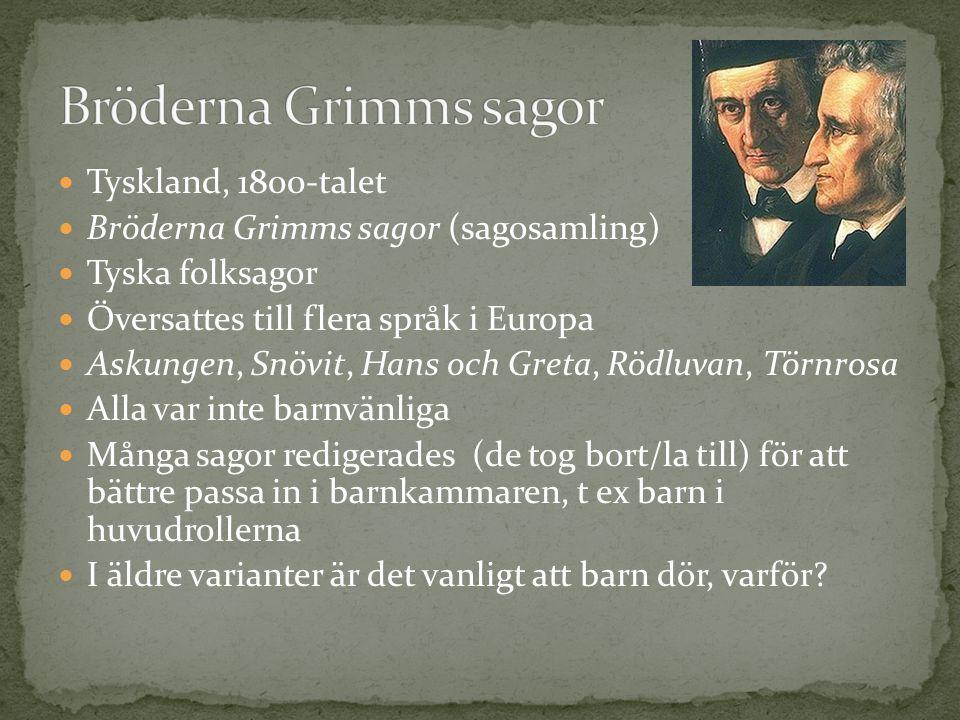 Bröderna Grimms sagor Tyskland, 1800-talet