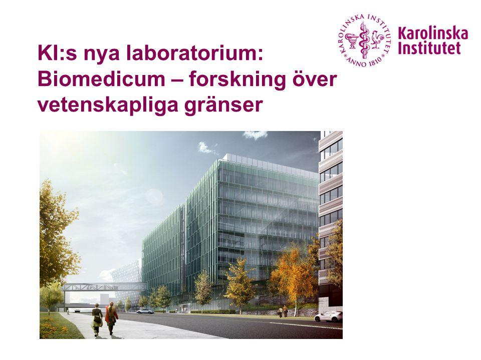 KI:s nya laboratorium: Biomedicum – forskning över vetenskapliga gränser