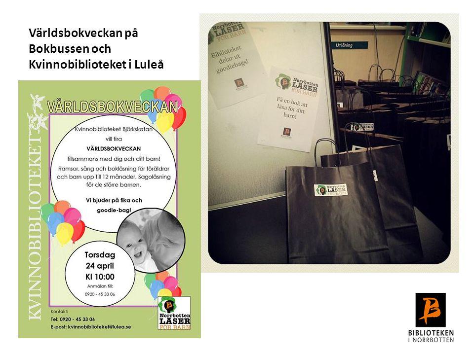 Världsbokveckan på Bokbussen och Kvinnobiblioteket i Luleå