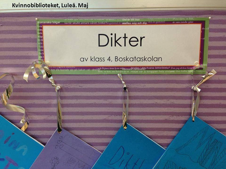 Kvinnobiblioteket, Luleå. Maj