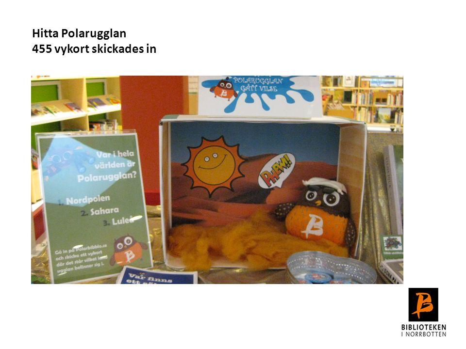 Hitta Polarugglan 455 vykort skickades in