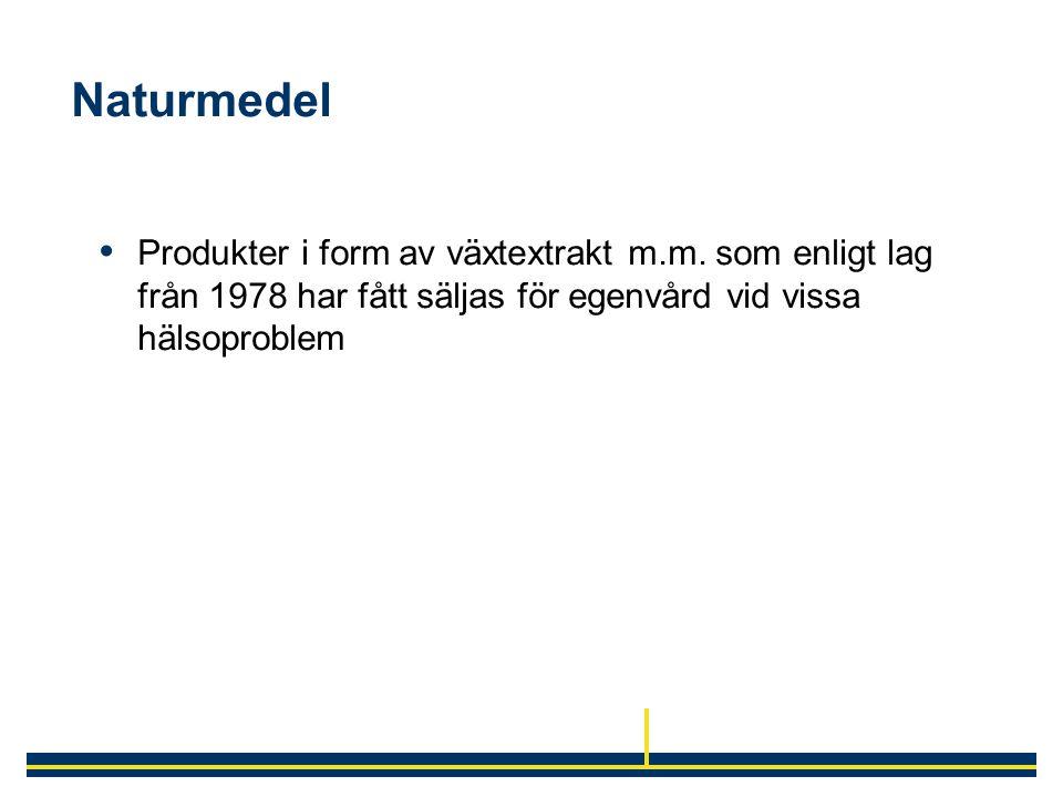 Naturmedel Produkter i form av växtextrakt m.m.