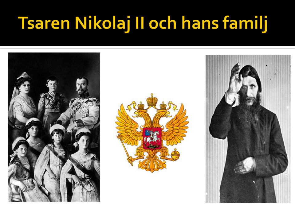 Tsaren Nikolaj II och hans familj
