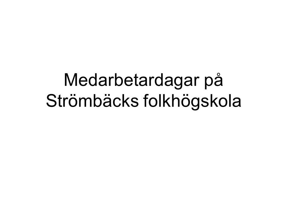 Medarbetardagar på Strömbäcks folkhögskola