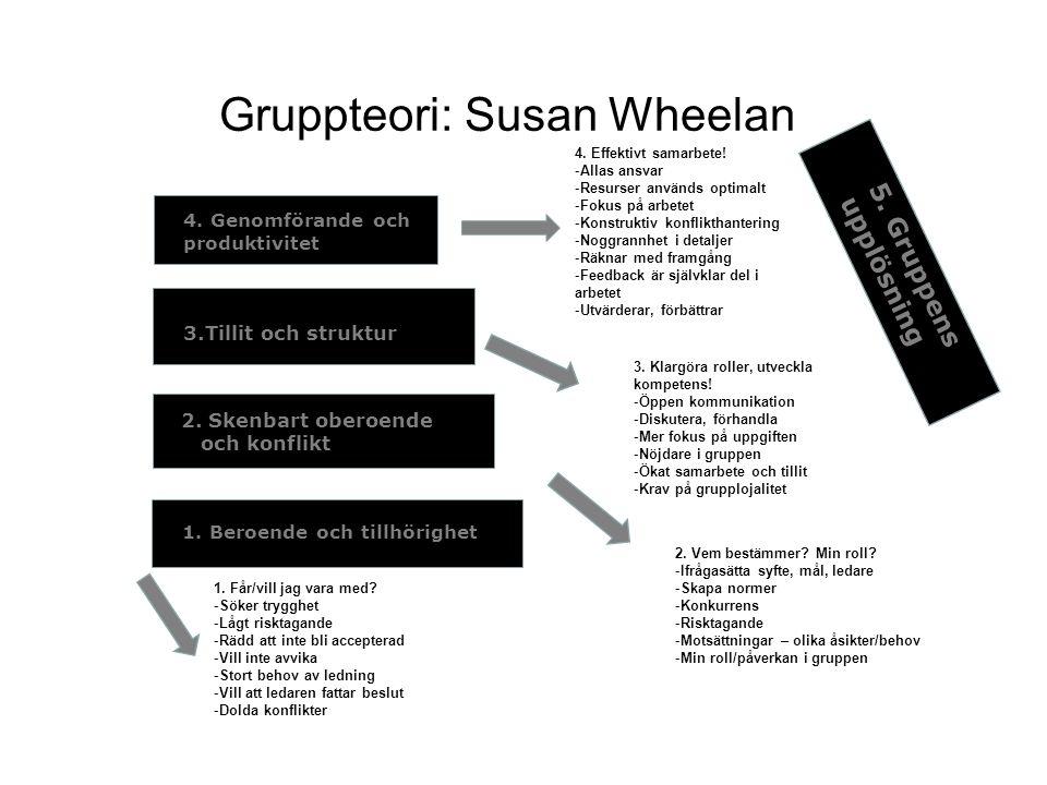 Gruppteori: Susan Wheelan
