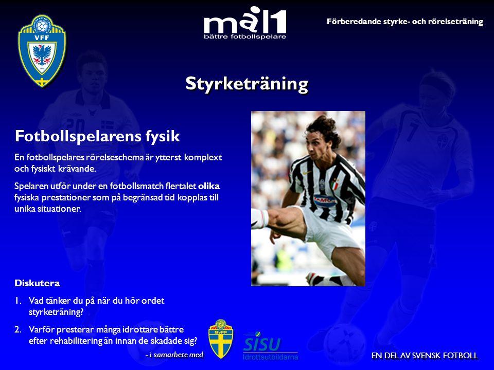 Styrketräning Fotbollspelarens fysik