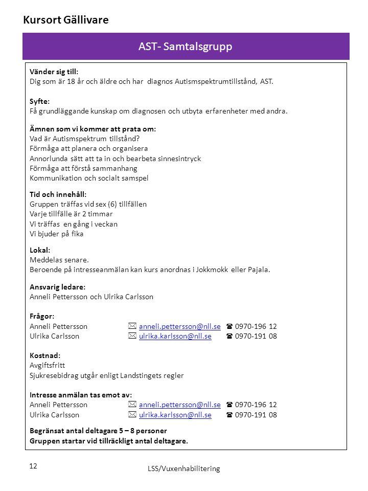 LSS/Vuxenhabilitering