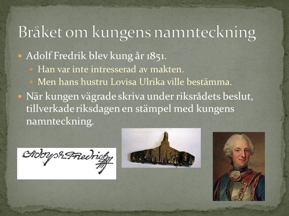 Bråket om kungens namnteckning
