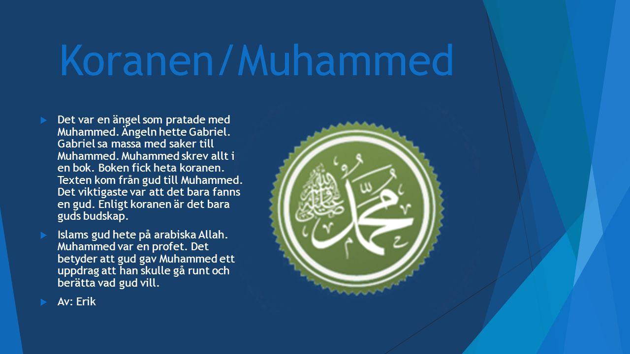 Koranen/Muhammed