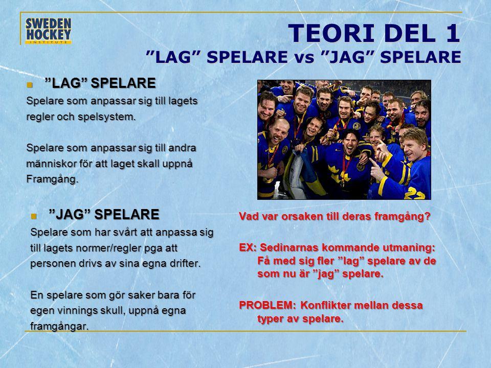 TEORI DEL 1 LAG SPELARE vs JAG SPELARE