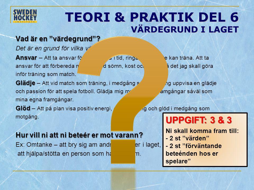 TEORI & PRAKTIK DEL 6 VÄRDEGRUND I LAGET