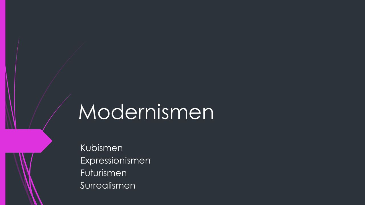 Kubismen Expressionismen Futurismen Surrealismen