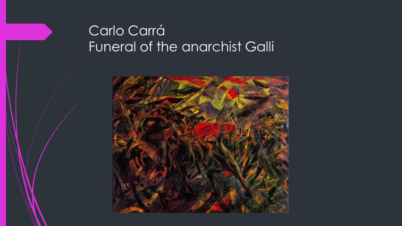 Carlo Carrá Funeral of the anarchist Galli