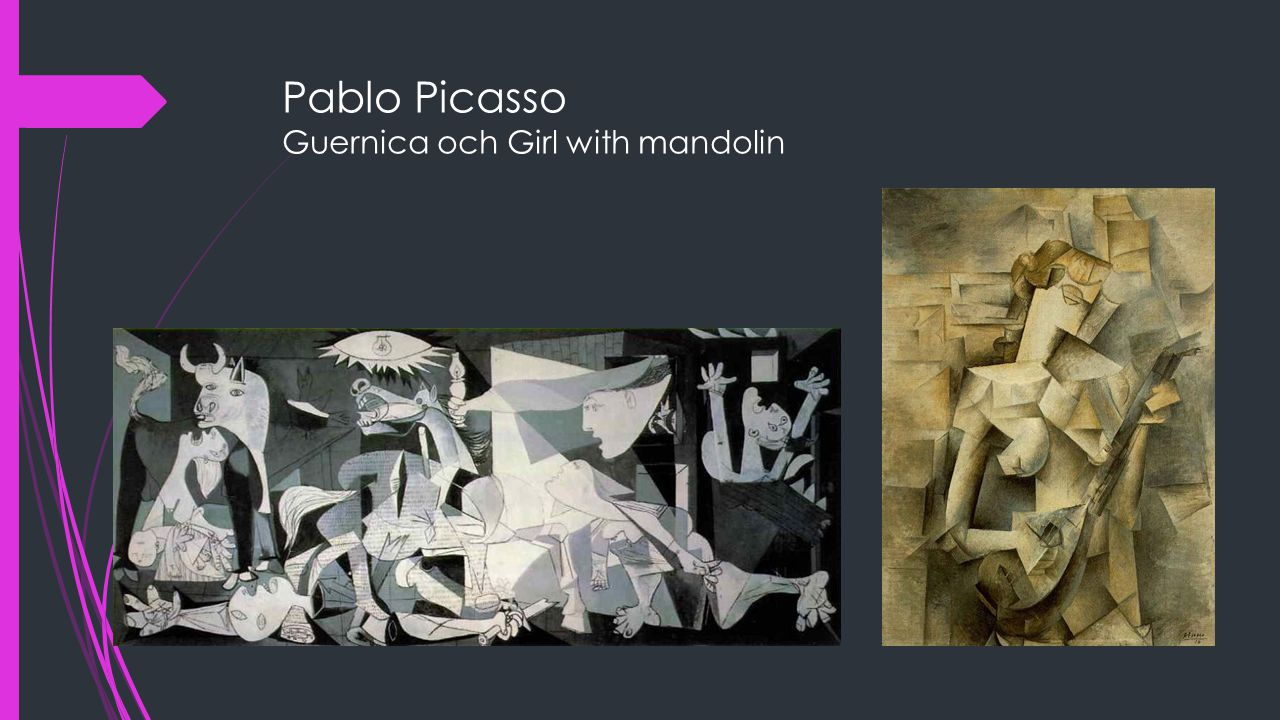 Pablo Picasso Guernica och Girl with mandolin