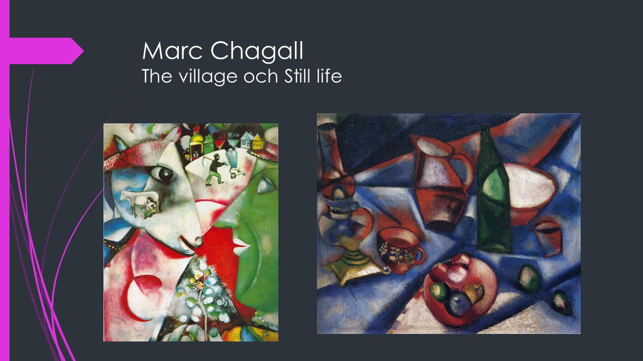 Marc Chagall The village och Still life