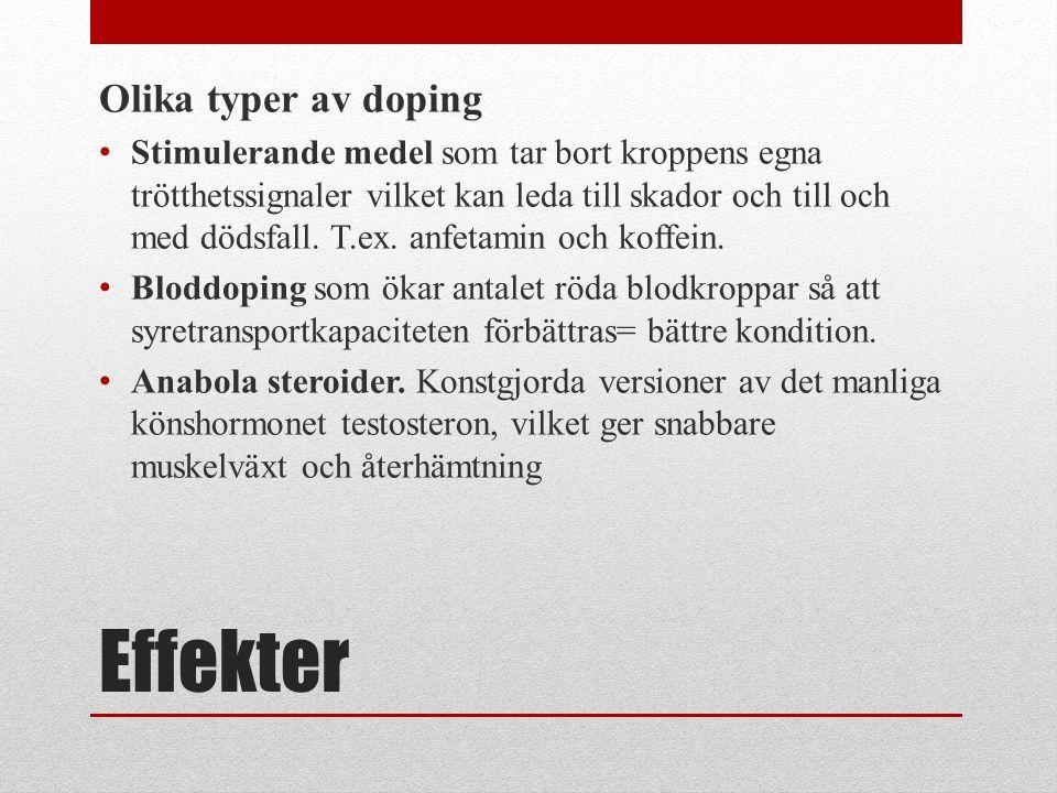 Effekter Olika typer av doping