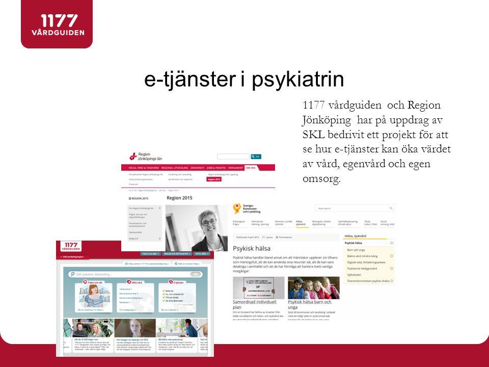 e-tjänster i psykiatrin
