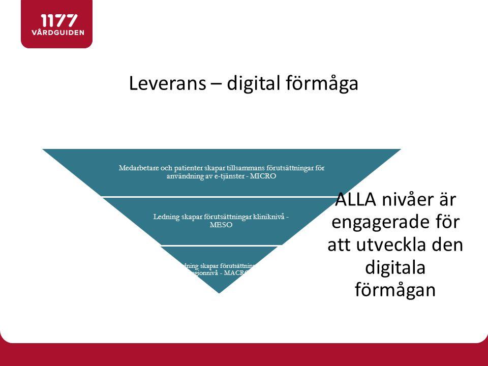 Leverans – digital förmåga