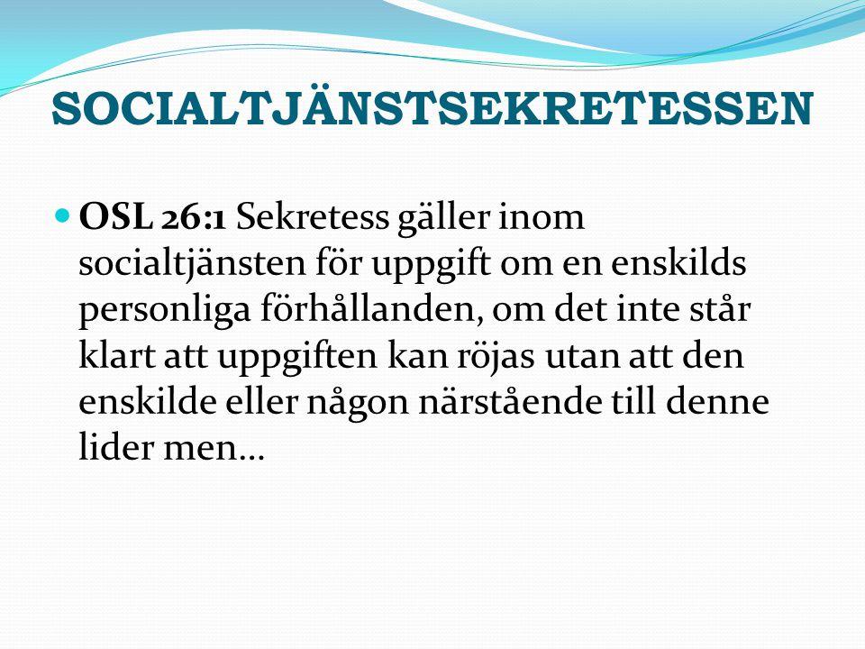Socialtjänstsekretessen