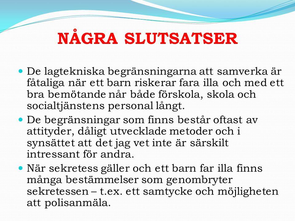 NÅGRA SLUTSATSER