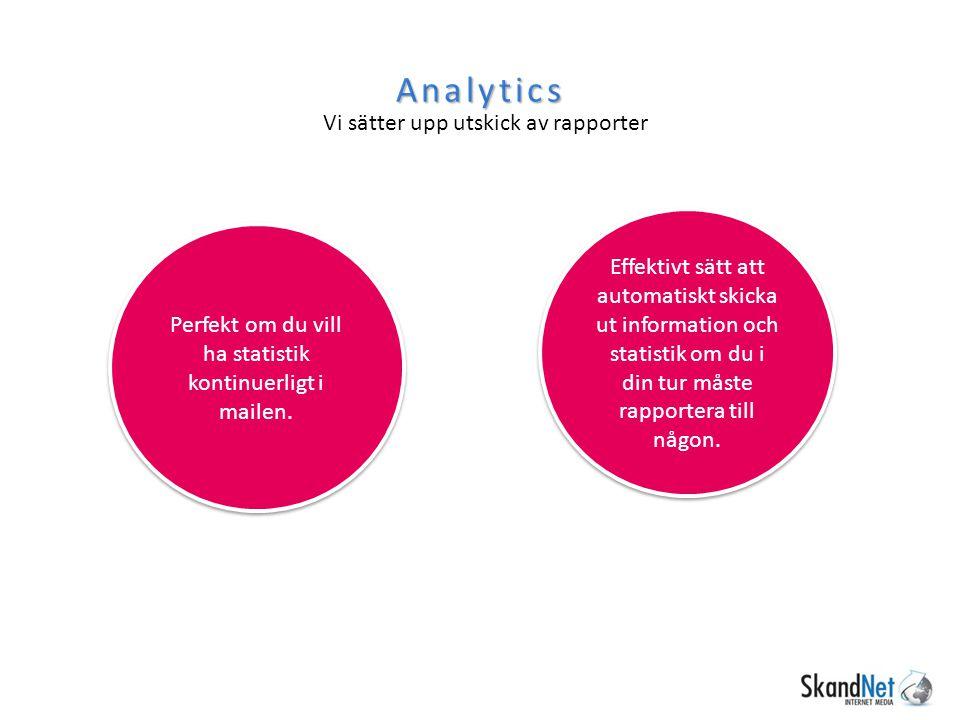 Perfekt om du vill ha statistik kontinuerligt i mailen.