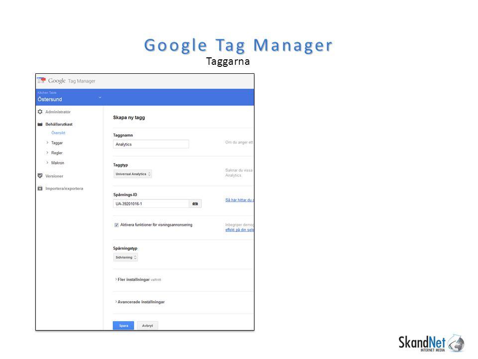 Google Tag Manager Taggarna