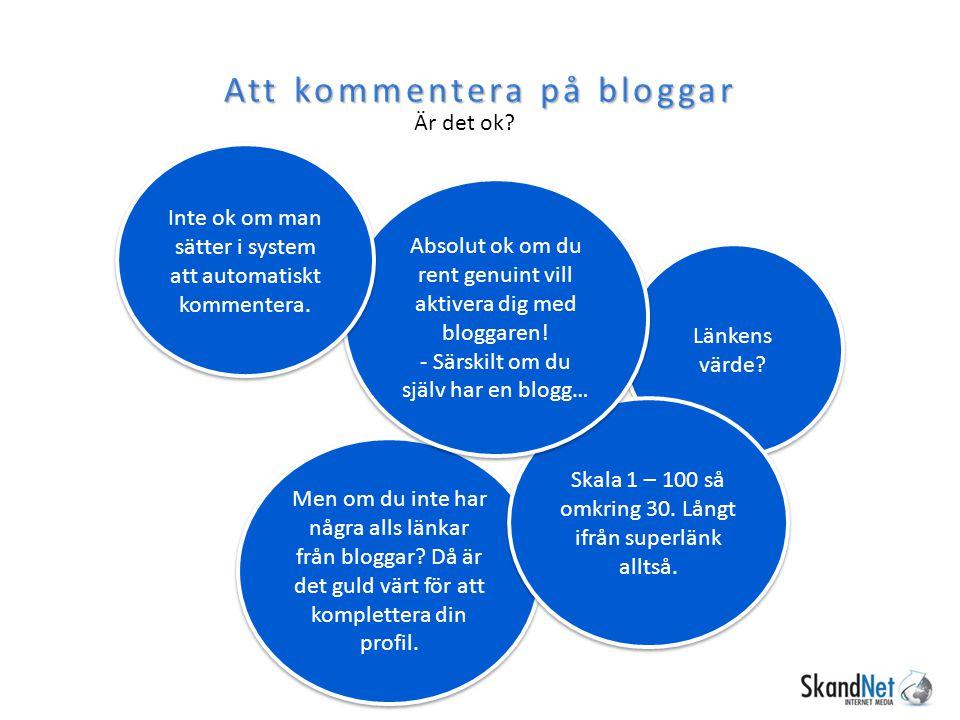 Att kommentera på bloggar