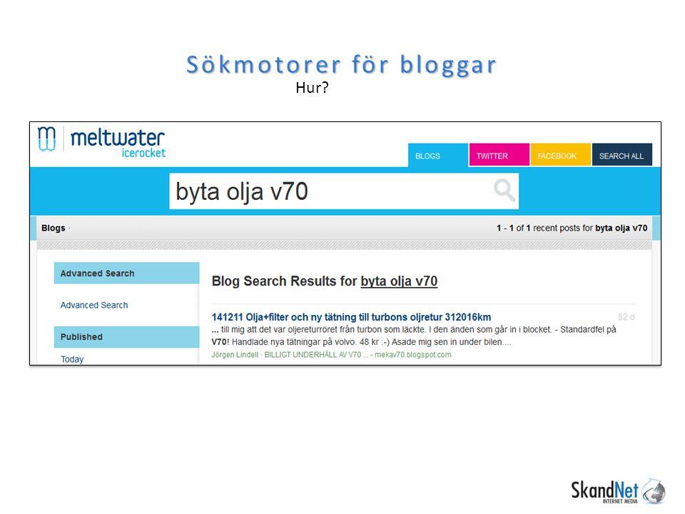 Sökmotorer för bloggar